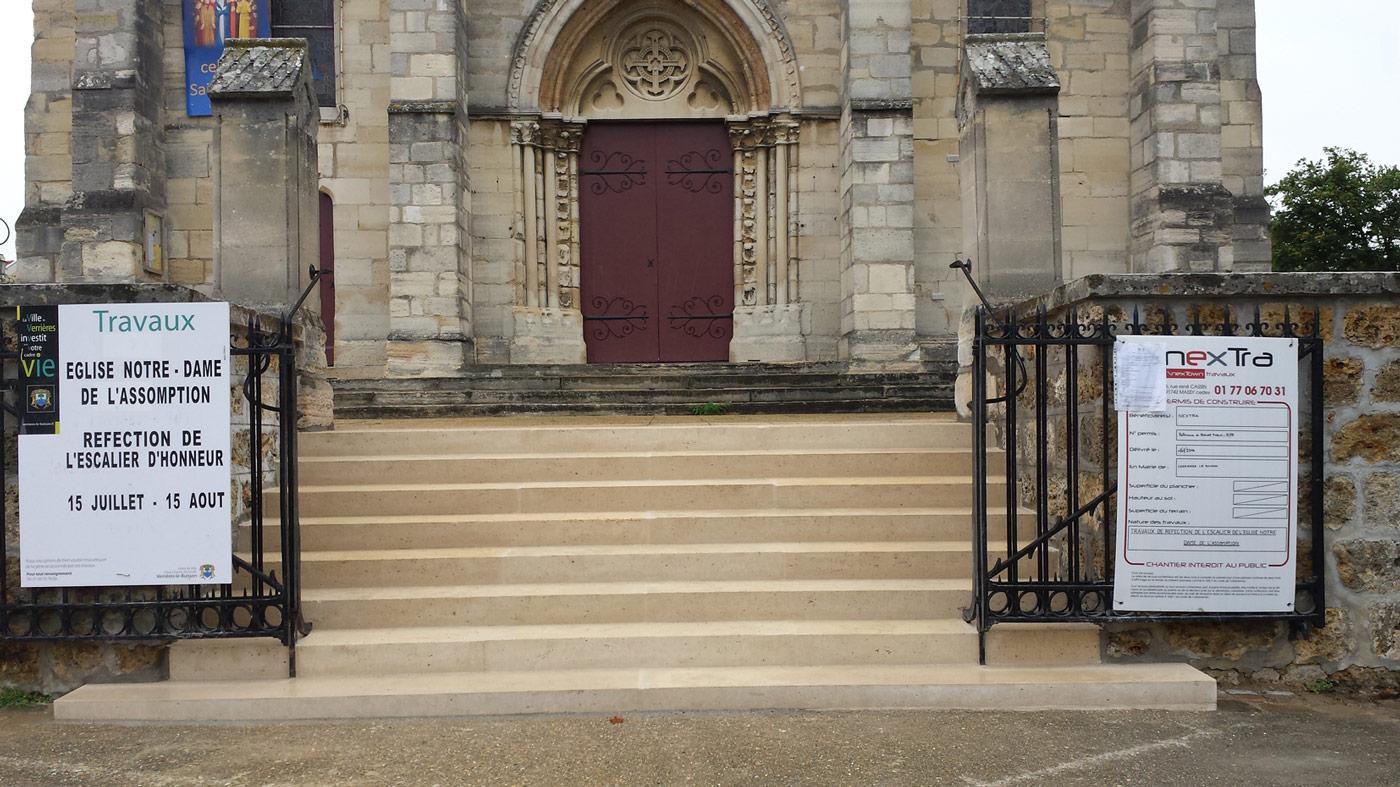 Entreprise Generale De Batiment 77 eglise rénovation de l'escalier d'honneur - nextra